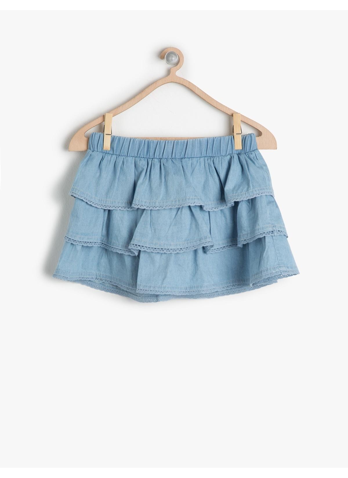 491c0f2defdc1 Koton Kids Kız Çocuk Jean Etek Baby Blue   Morhipo   19611373